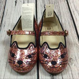 Baby Gap Girls Sparkly Kitten Shoes